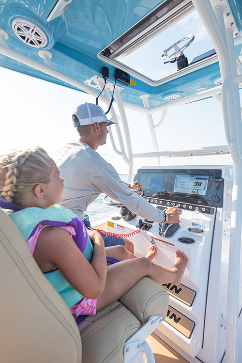 Father and daughter at the helm of the 247