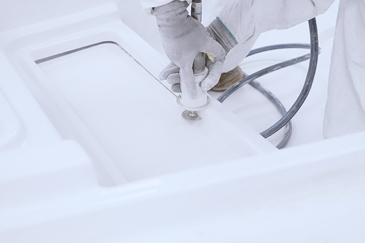 cutting fiberglass.