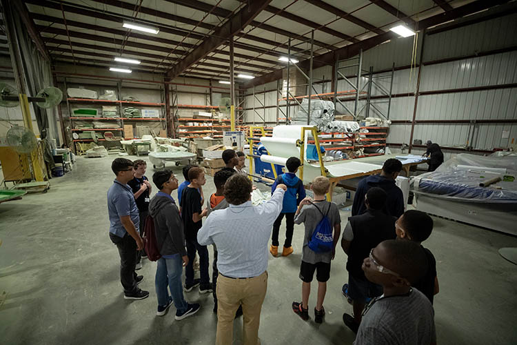 Celebrating manufacturing day at Sportsman Boats in Summerville, South Carolina