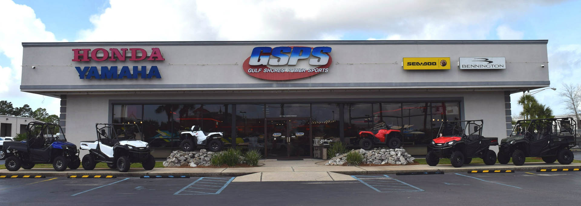 Store front image for the dealership located at Gulf Shores, AL