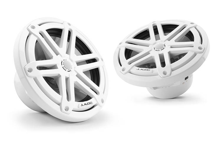 Detail image of JL Audio M3-650X Gloss White Sport Grille Speakers