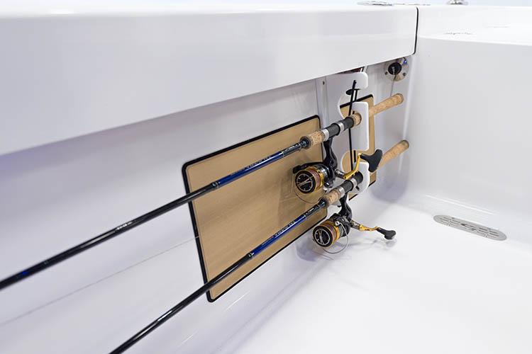 Detail image of Under Gunwale Folding Rod Racks