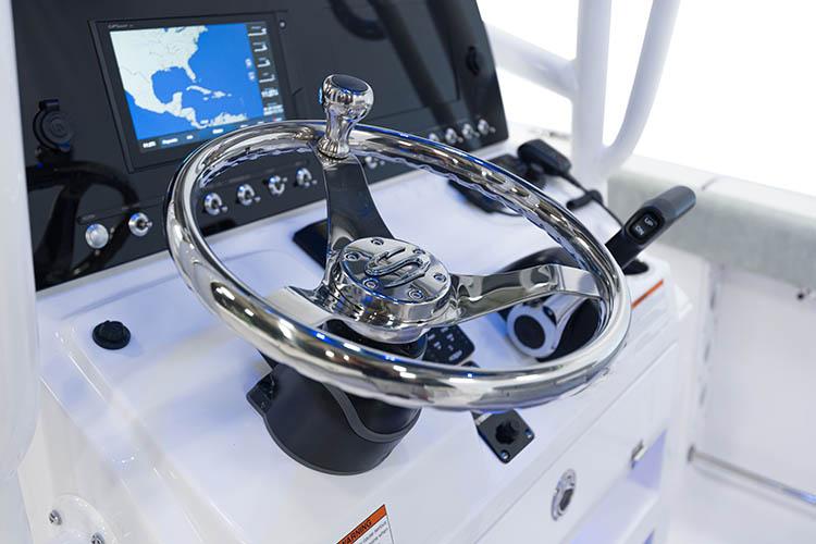 Detail image of SeaStar Tilt Helm w/ SS Wheel