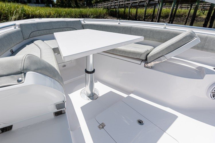 Detail image of Actuated Bow Sun Deck / Table