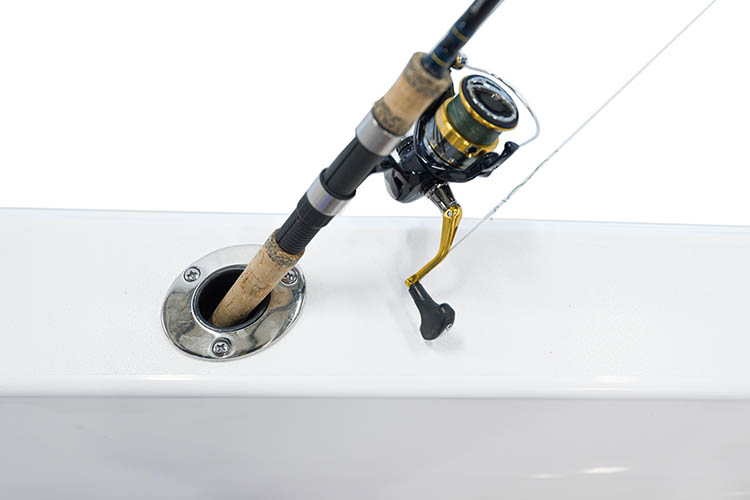 Detail image of Flush Mount Gunwale Rod Holders