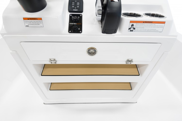 Detail image of Fiberglass Console Footrest w/ Storage