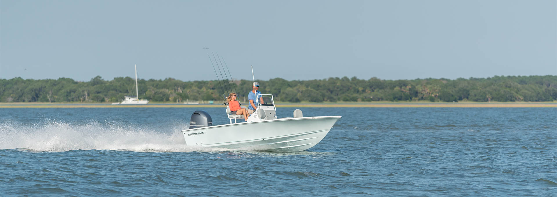 Slide show of images of the Masters 207 Bay Boat. This is image number 1.