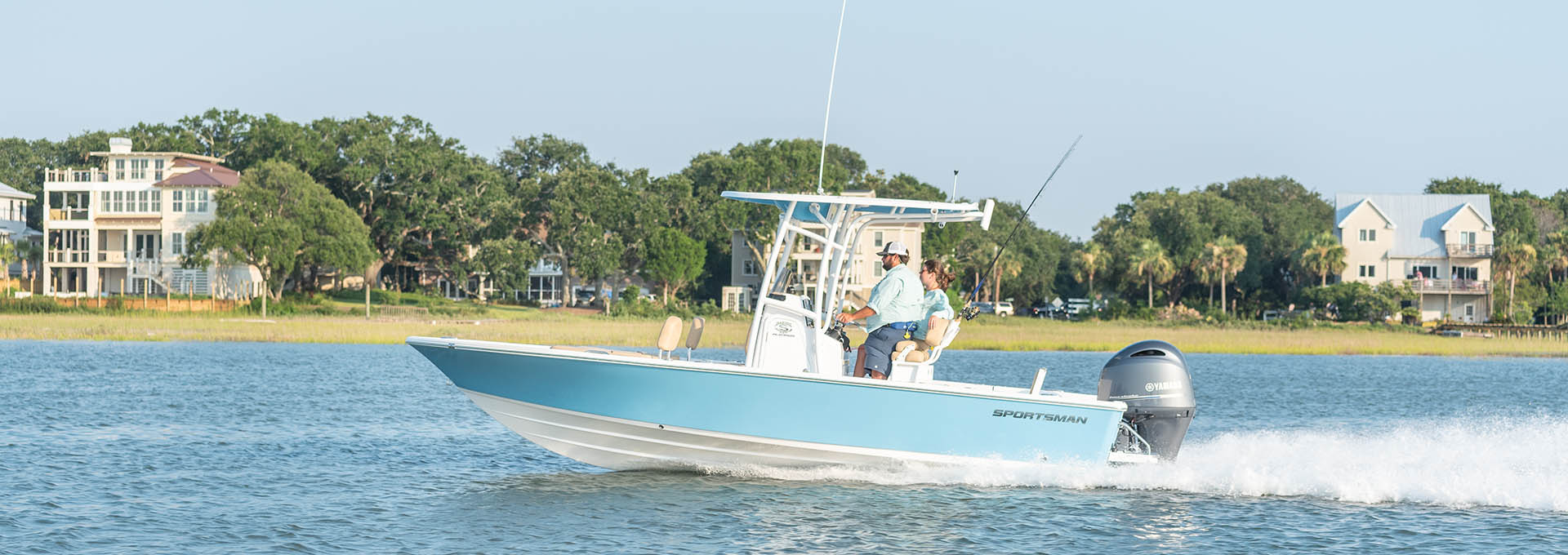 Slide show of images of the Masters 227 Bay Boat. This is image number 1.