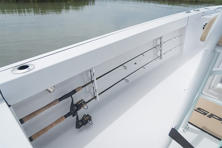 Detail image of Under Gunwale Rod Racks