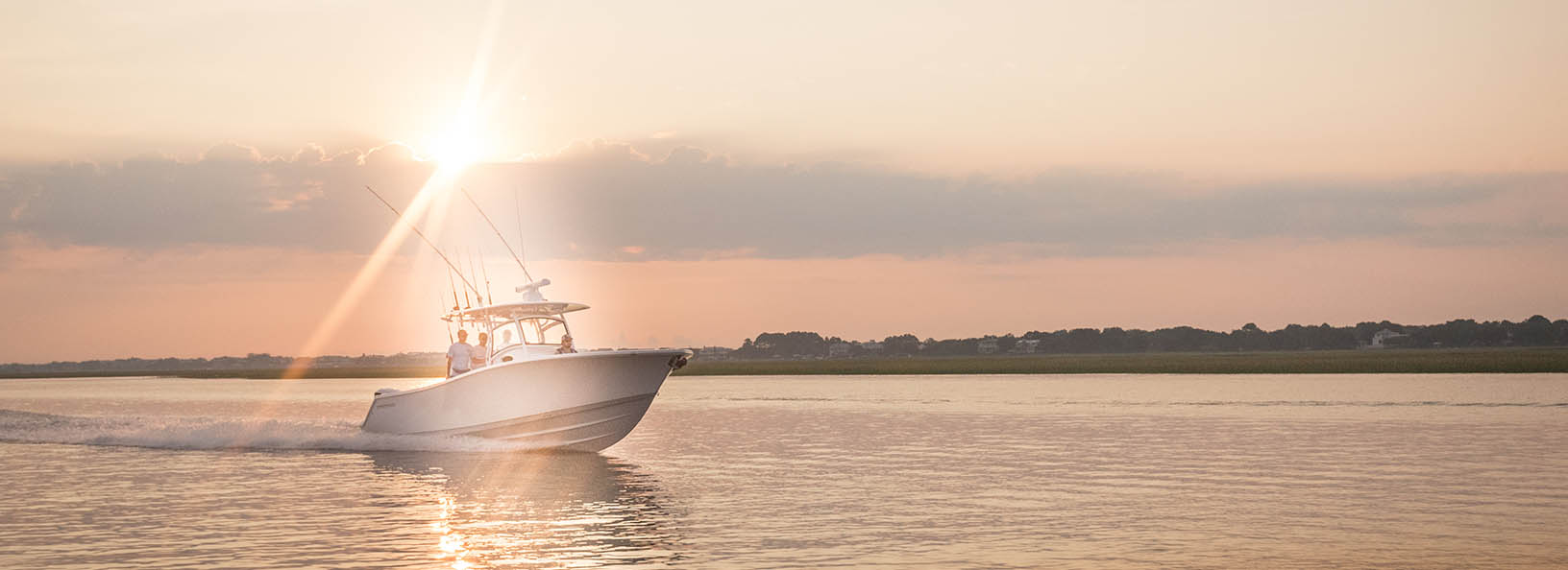 the Sportsman Open 312 Center Console on a morning cruise down the Intracoastal Waterway.