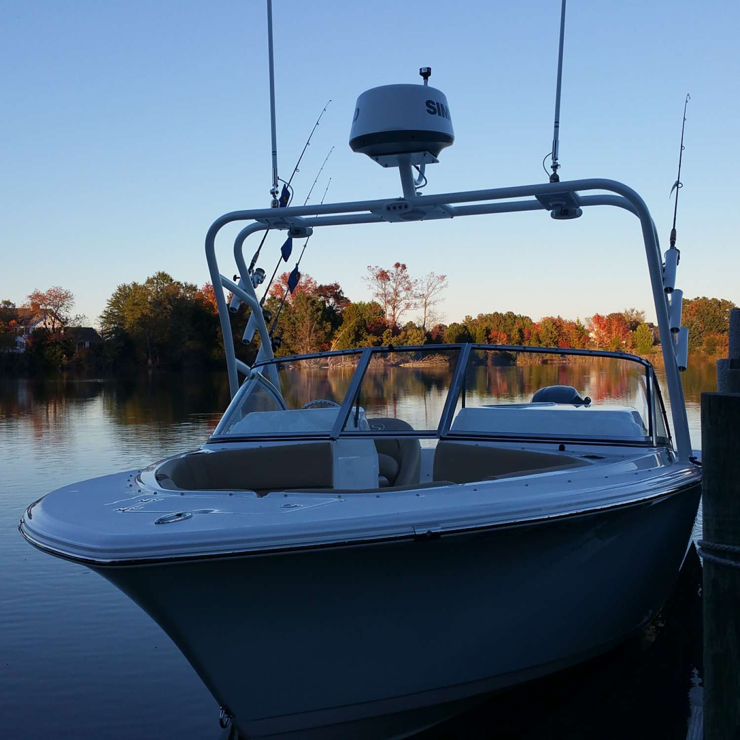 Title: Fall Fishing On The Chesapeak - On board their Sportsman More Than One - Location: Dameron, Maryland. Participating in the Photo Contest #SportsmanDecember2015