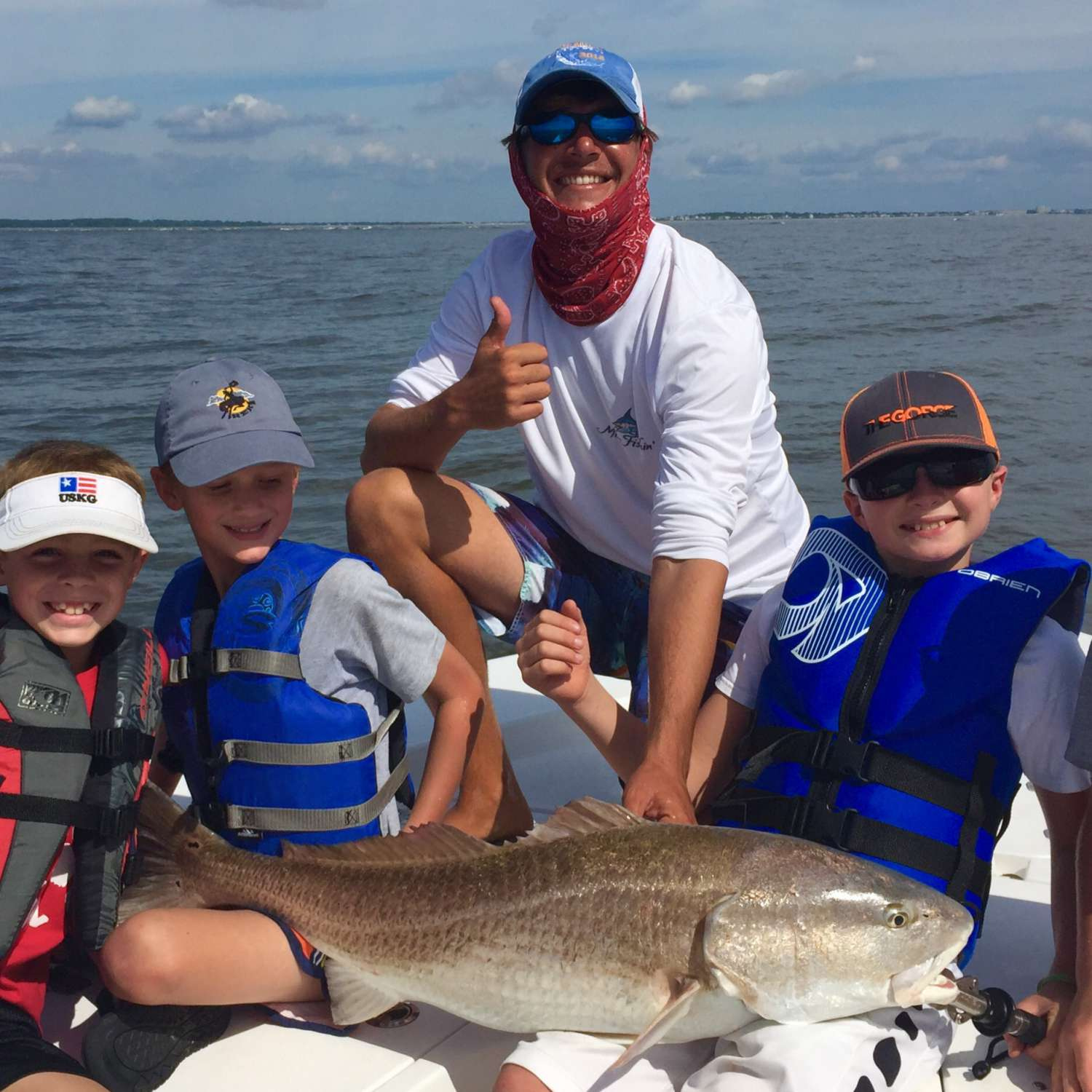 Title: Bro Time! - On board their Sportsman Masters 247 Bay Boat - Location: Johns Island, South Carolina. Participating in the Photo Contest #SportsmanNovember2015
