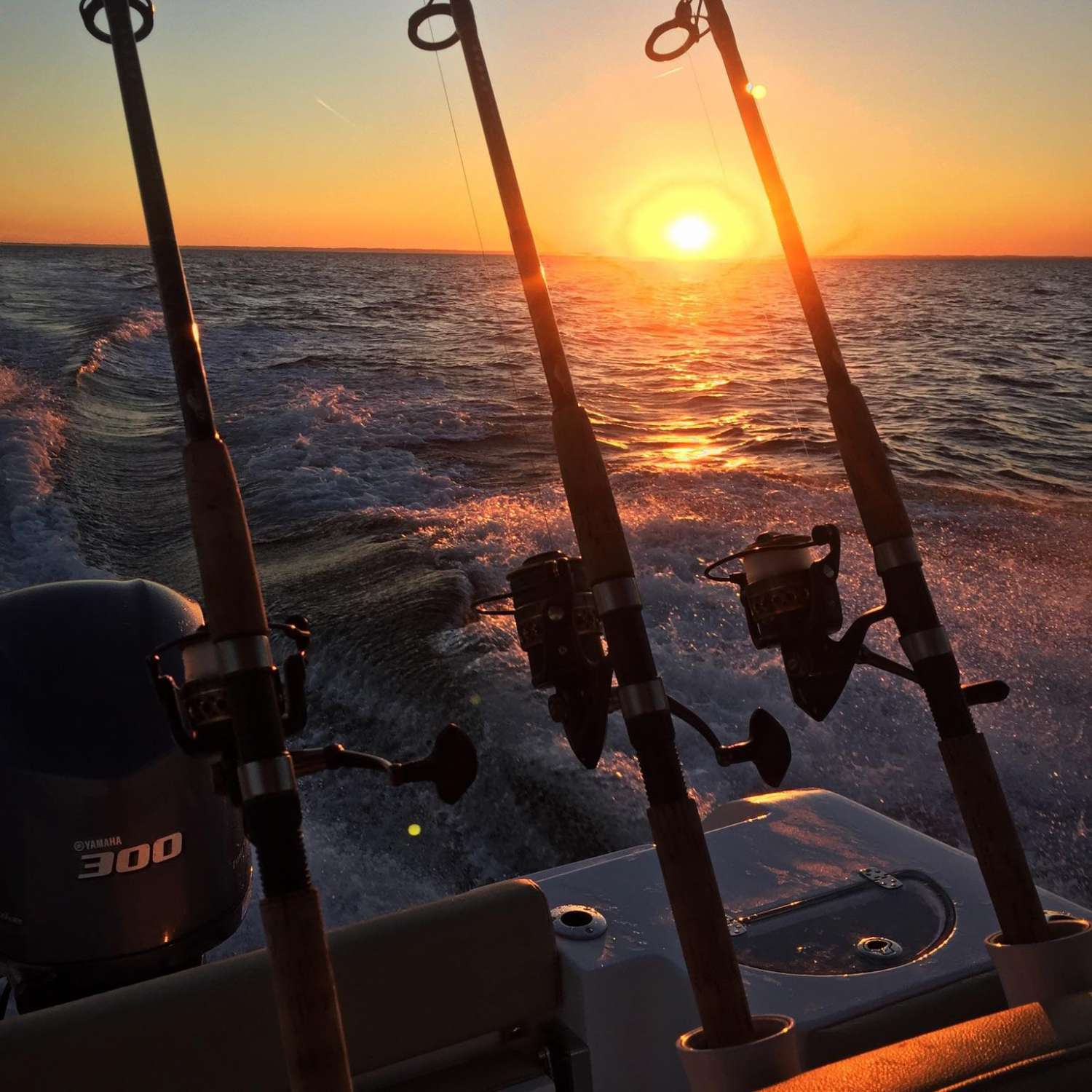 Title: Sunset On The Chesapeake - On board their Sportsman Open 252 Center Console - Location: Grasonville, Maryland. Participating in the Photo Contest #SportsmanNovember2015
