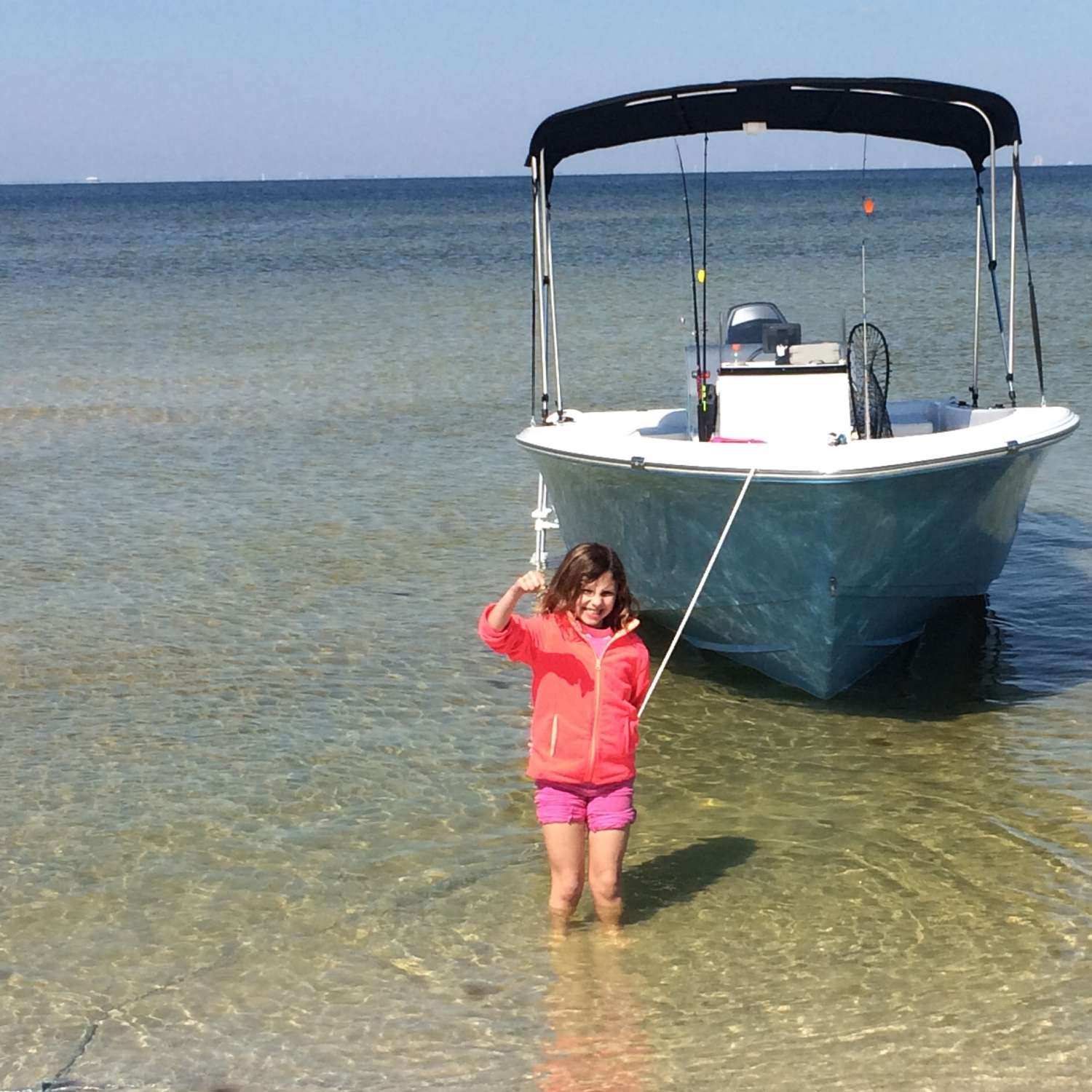 Title: Spring Fun At Ship Island - On board their Sportsman Island Reef 19 Center Console - Location: Biloxi, Mississippi. Participating in the Photo Contest #SportsmanApril2016