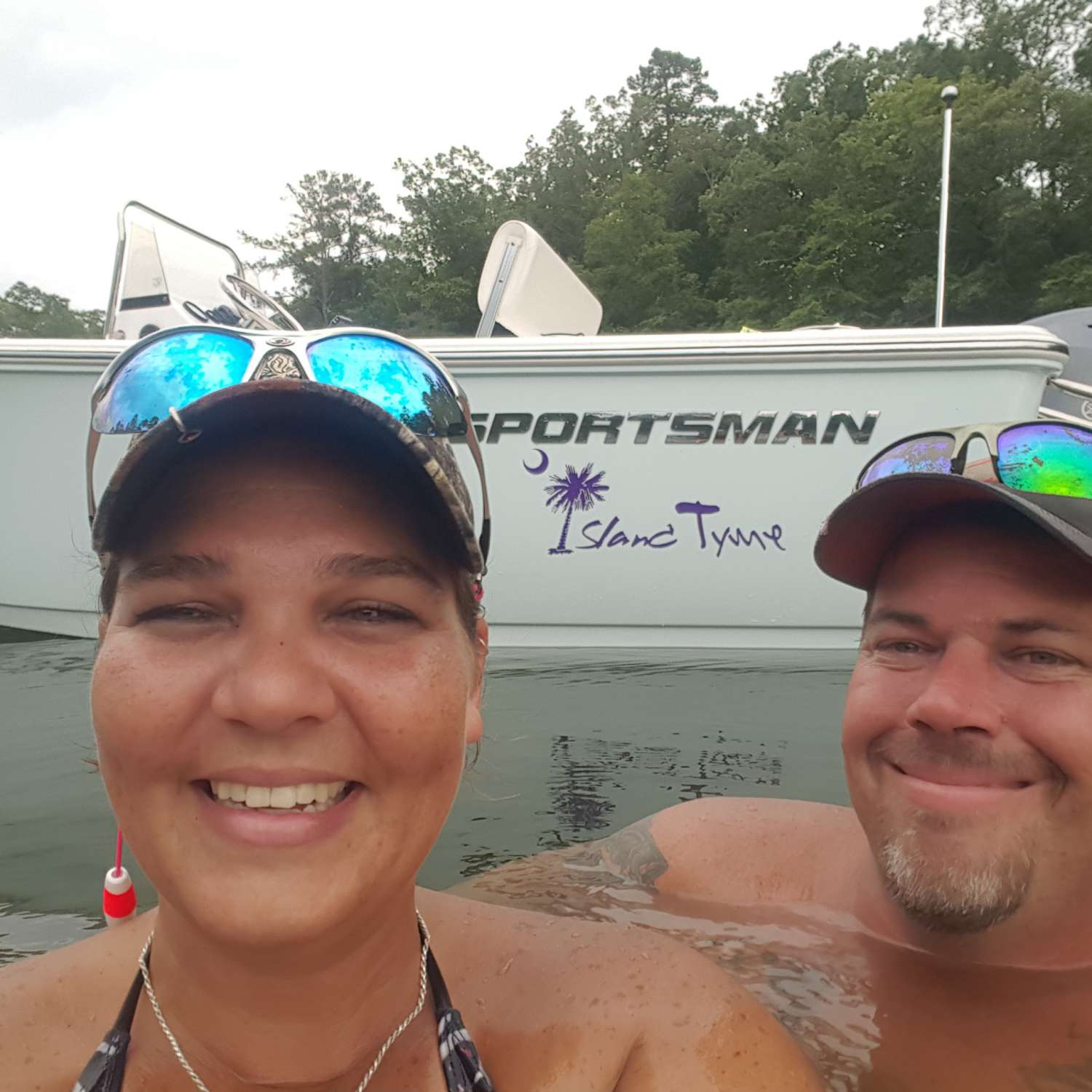 Title: Chillin Lake Side - On board their Sportsman Island Reef 17 Center Console - Location: Columbia, South Carolina. Participating in the Photo Contest #SportsmanAugust2016