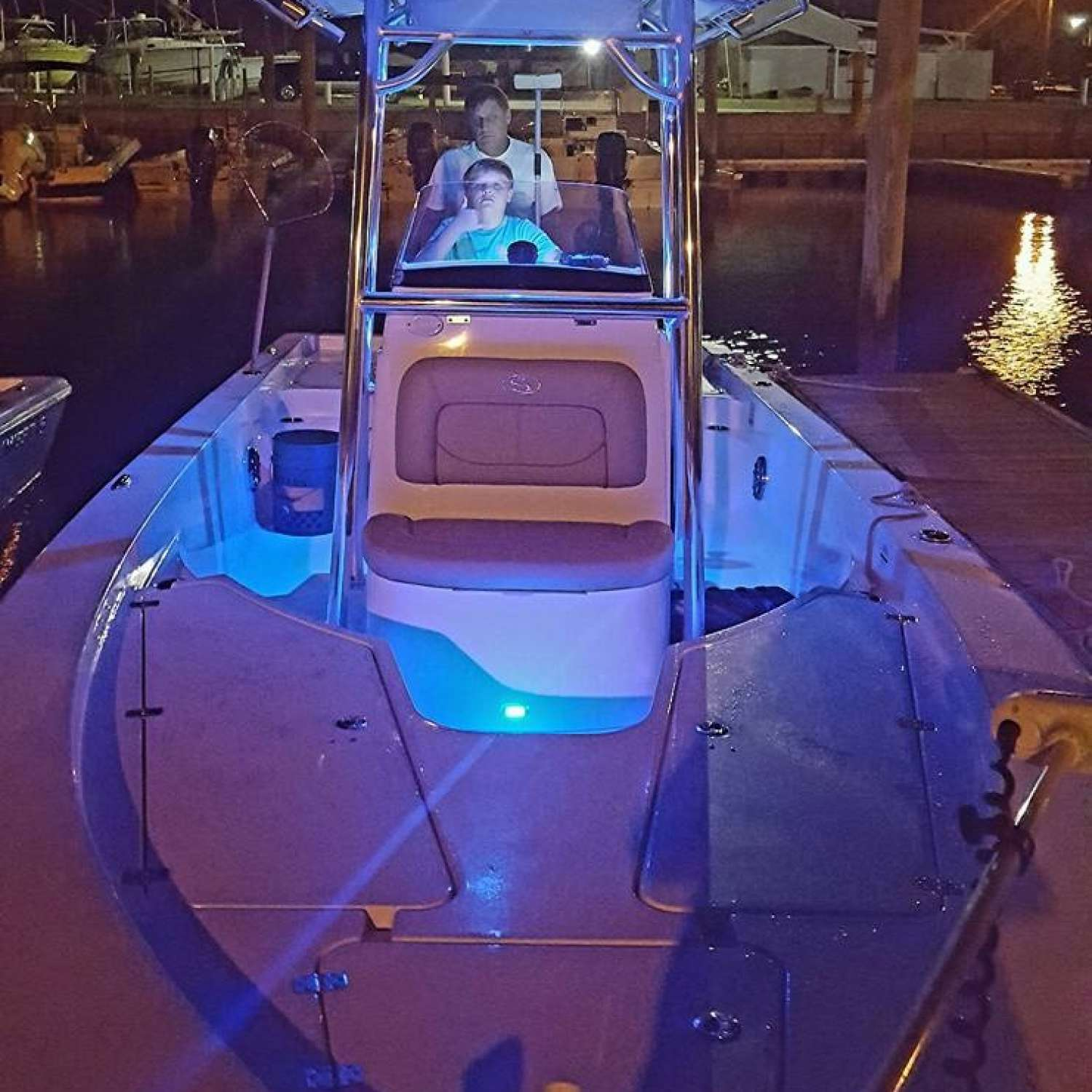 Title: Night Movies - On board their Sportsman Masters 227 Bay Boat - Location: Kenly, North Carolina. Participating in the Photo Contest #SportsmanAugust2016