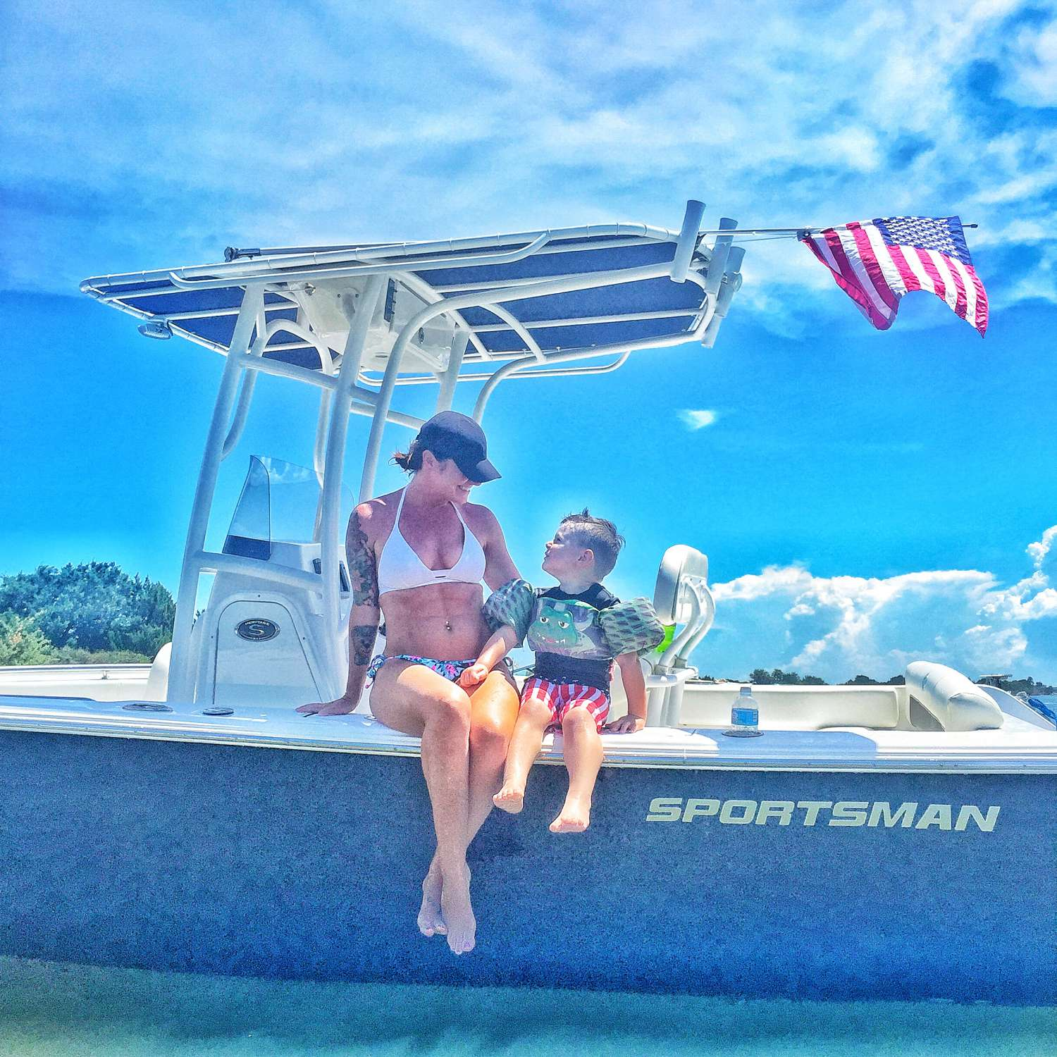 Title: Mamas Boy - On board their Sportsman Heritage 211 Center Console - Location: Jacksonville, Florida. Participating in the Photo Contest #SportsmanAugust2016