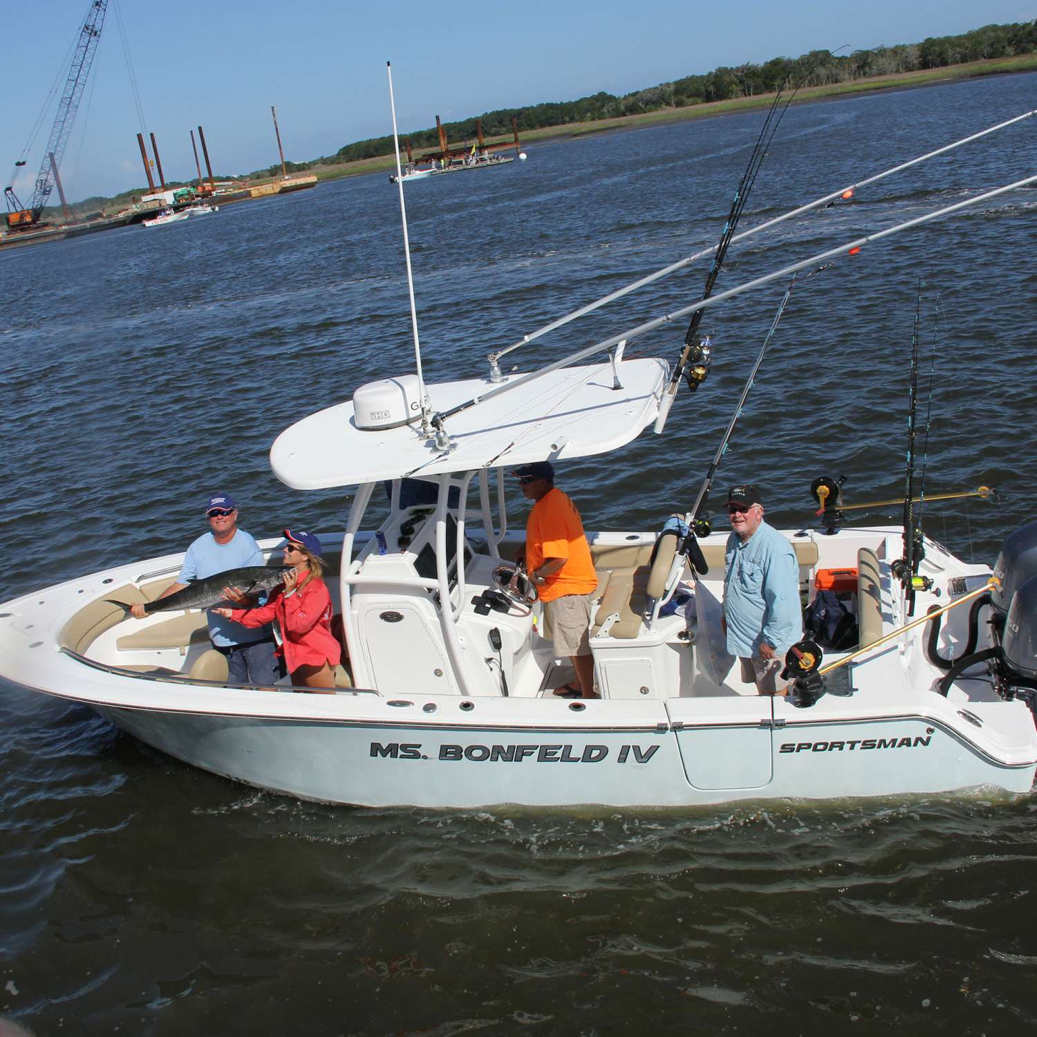 Title: Being With Family - On board their Sportsman Heritage 251 Center Console - Location: Jacksonville, Florida. Participating in the Photo Contest #SportsmanAugust2016