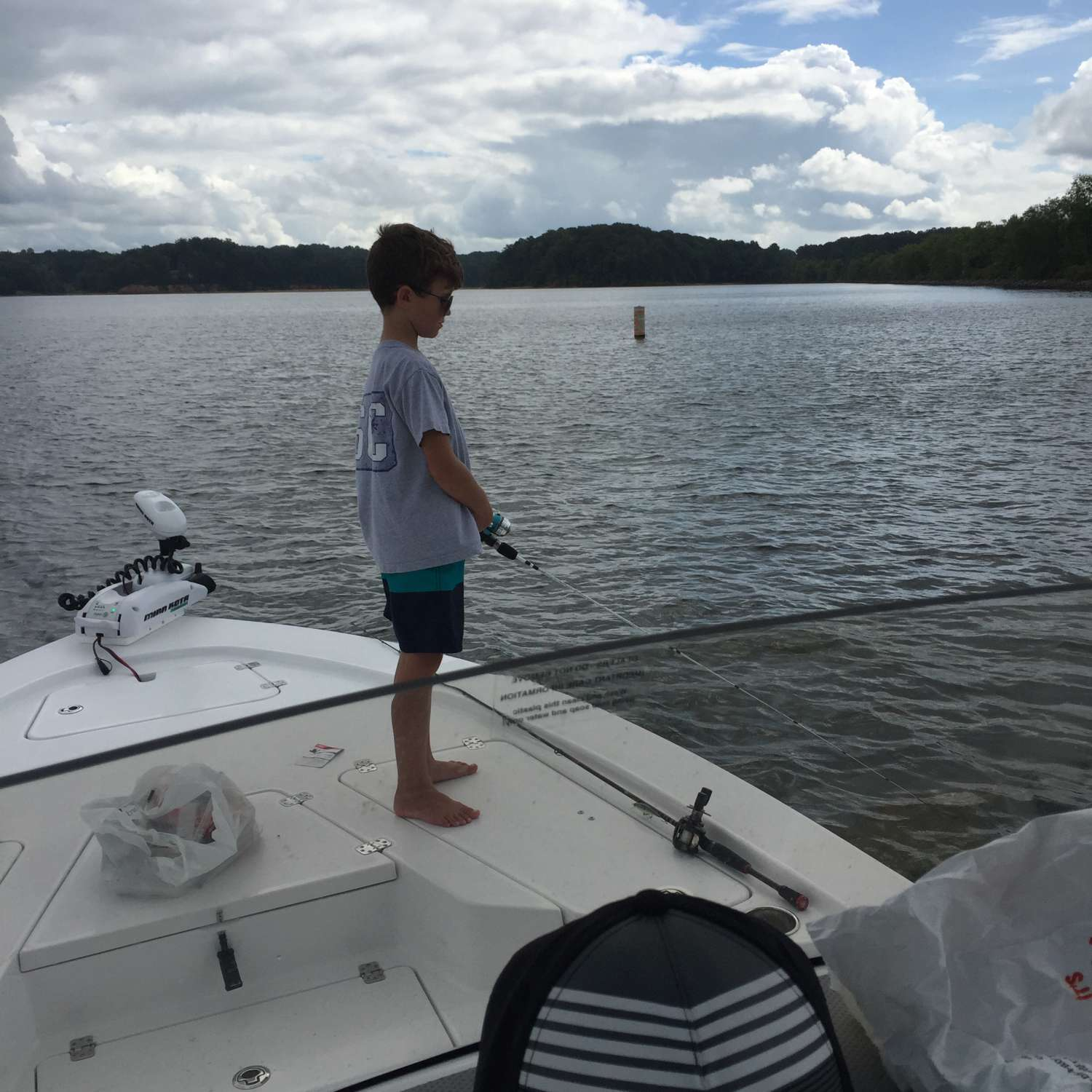 Title: Captain 234 - On board their Sportsman Tournament 234 Bay Boat - Location: Easley, South Carolina. Participating in the Photo Contest #SportsmanAugust2016