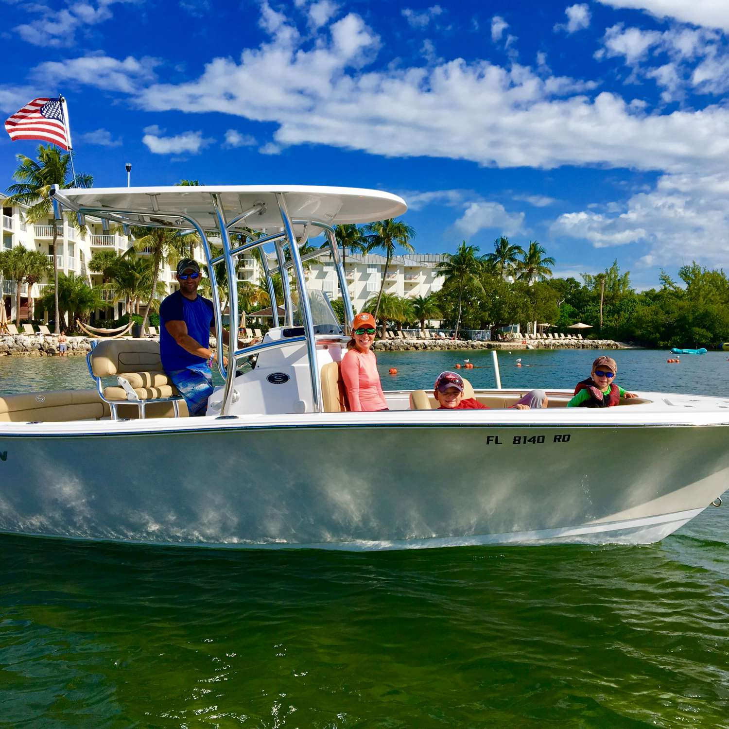 Title: The Keys - On board their Sportsman Heritage 211 Center Console - Location: Melbourne Beach, Florida. Participating in the Photo Contest #SportsmanDecember2016