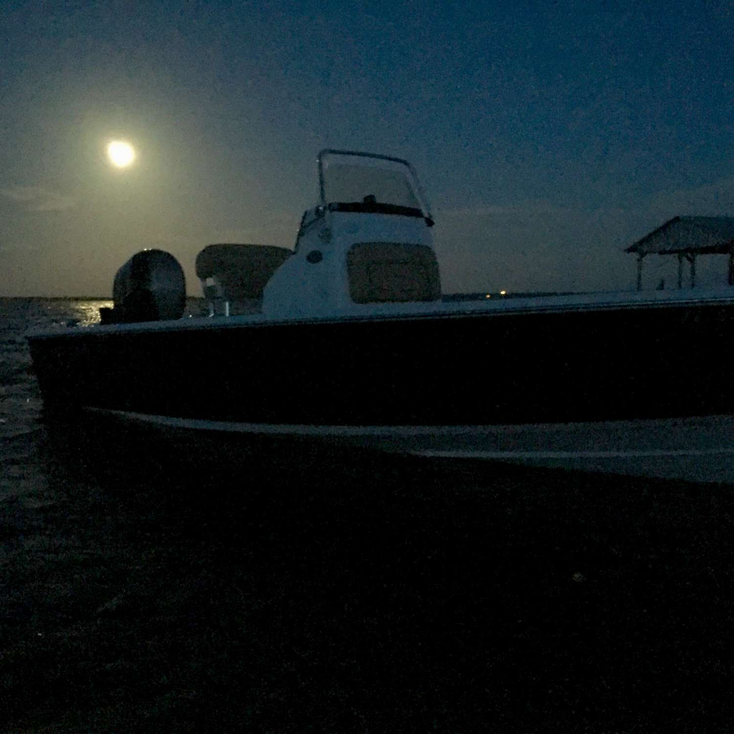 Title: Full Moon Run - On board their Sportsman Masters 227 Bay Boat - Location: Okeechobee, Florida. Participating in the Photo Contest #SportsmanJuly2016