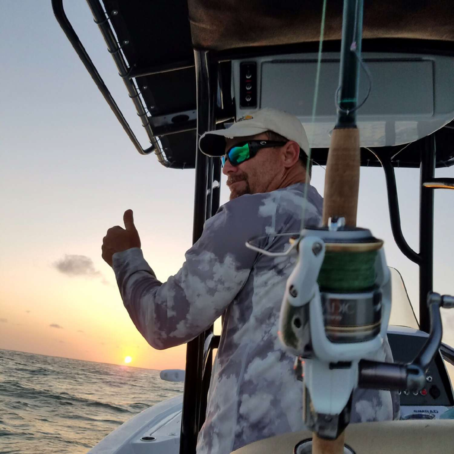 Title: Sunset - On board their Sportsman Tournament 234 Bay Boat - Location: Oviedo, Florida. Participating in the Photo Contest #SportsmanJune2016