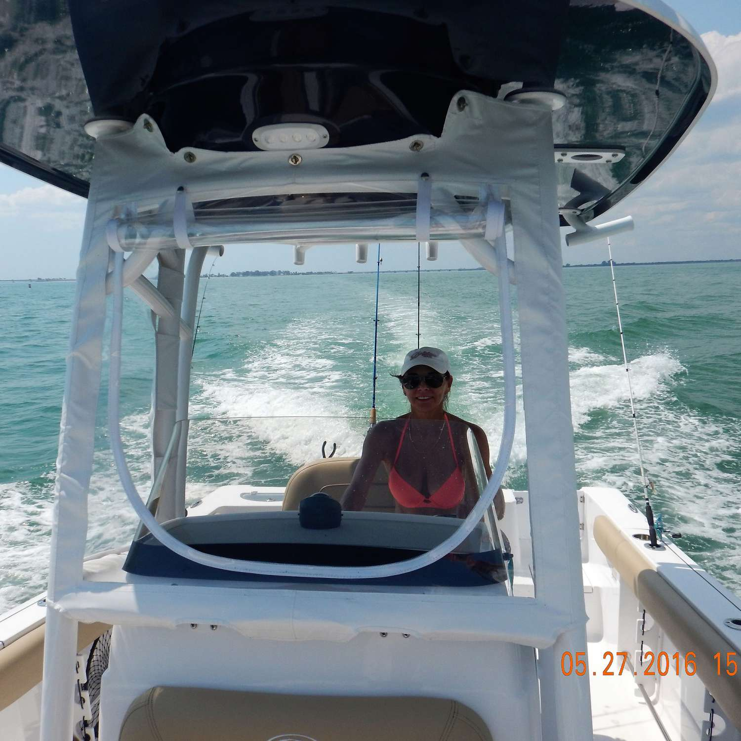 Title: First Mate Driver - On board their Sportsman Open 232 Center Console - Location: Cape Coral, Florida. Participating in the Photo Contest #SportsmanJune2016
