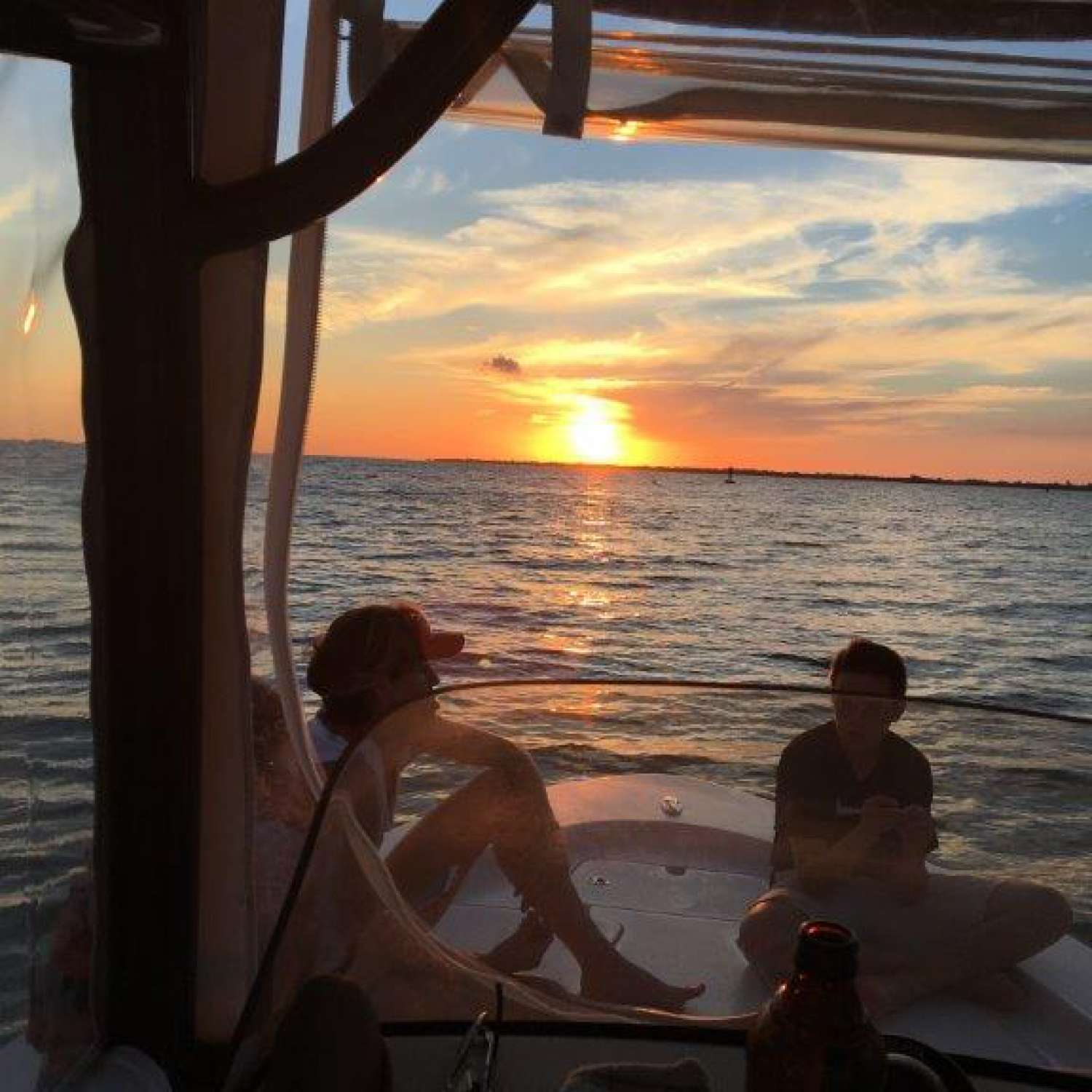 Title: Tampa Bay Sunset - On board their Sportsman Masters 227 Bay Boat - Location: Valrico, Florida. Participating in the Photo Contest #SportsmanJune2016