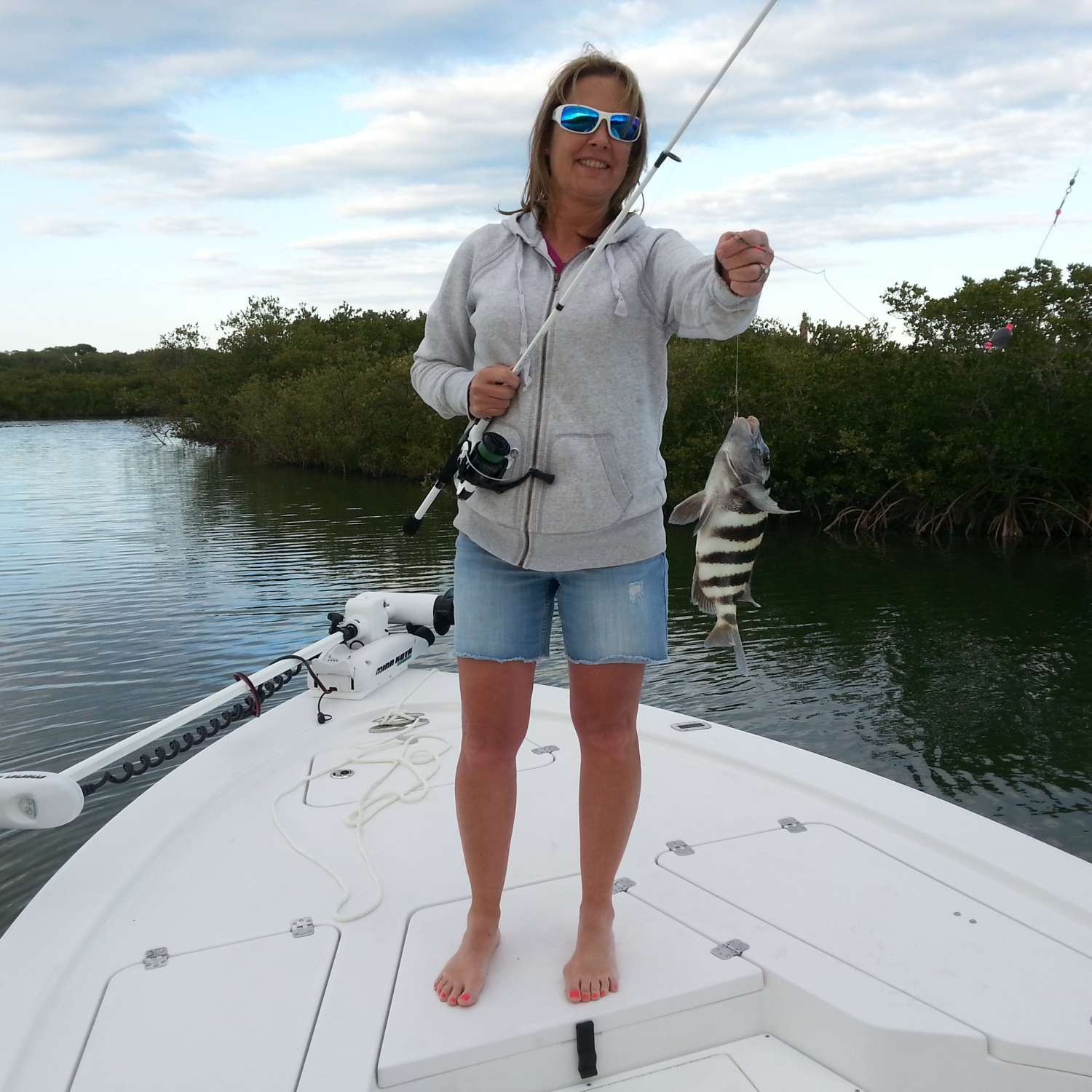 Title: Lori's Fish - On board their Sportsman Tournament 214 Bay Boat - Location: Port Orange, Florida. Participating in the Photo Contest #SportsmanMarch2016