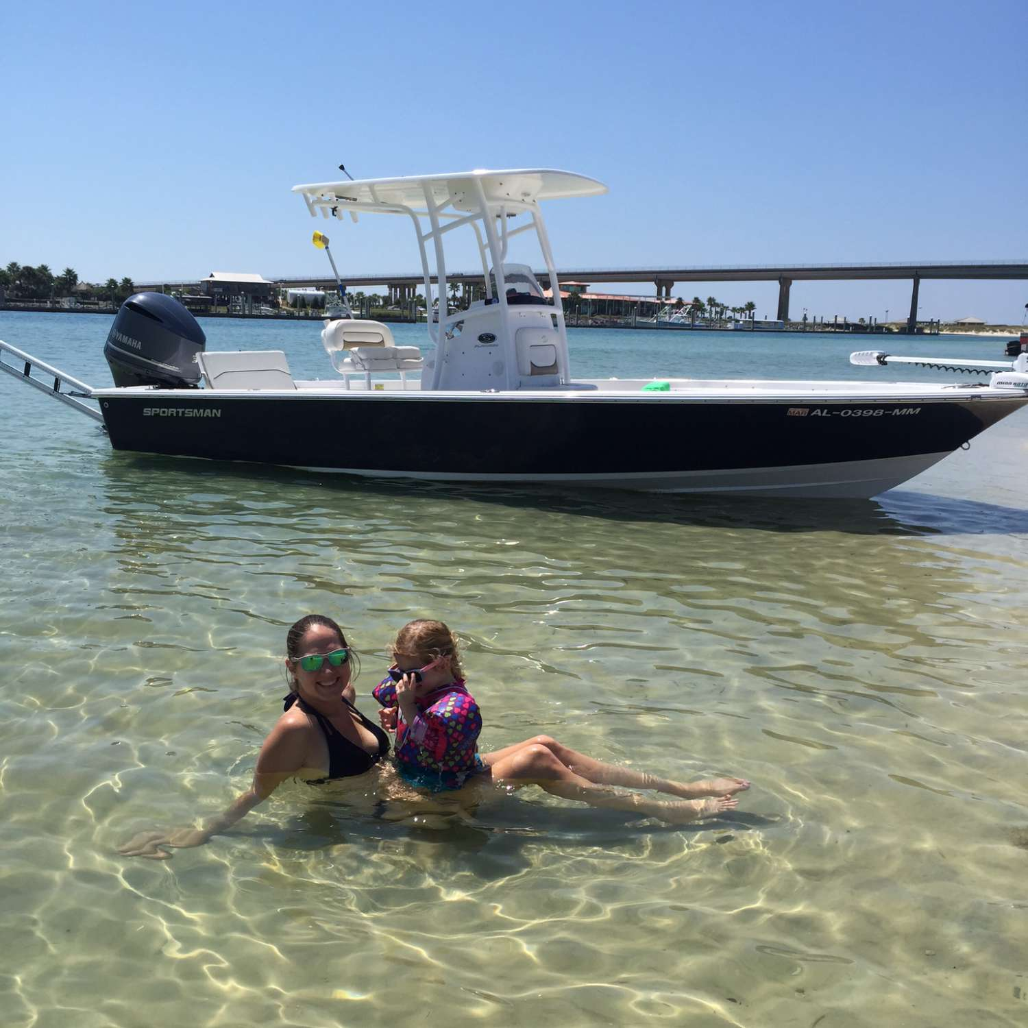 Title: My Beautiful Girls - On board their Sportsman Masters 247 Bay Boat - Location: Mobile, Alabama. Participating in the Photo Contest #SportsmanMarch2016