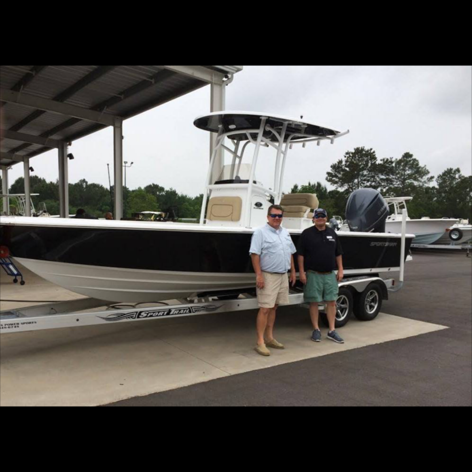 Title: Best Salesman - On board their Sportsman Masters 247 Bay Boat - Location: Mobile, Alabama. Participating in the Photo Contest #SportsmanMay2016