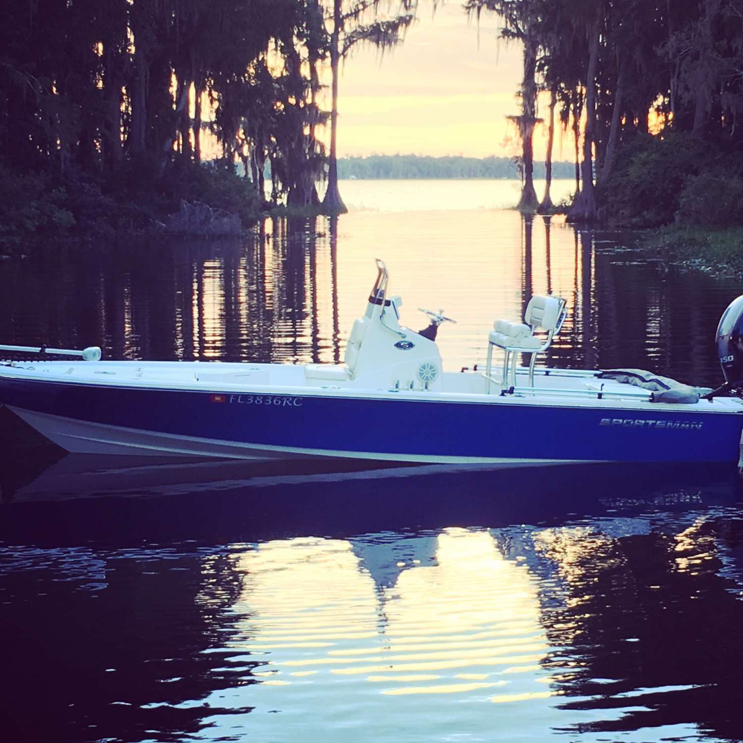 Title: Evening On The Lake - On board their Sportsman Tournament 214 Bay Boat - Location: Ormond Beach, Florida. Participating in the Photo Contest #SportsmanOctober2016