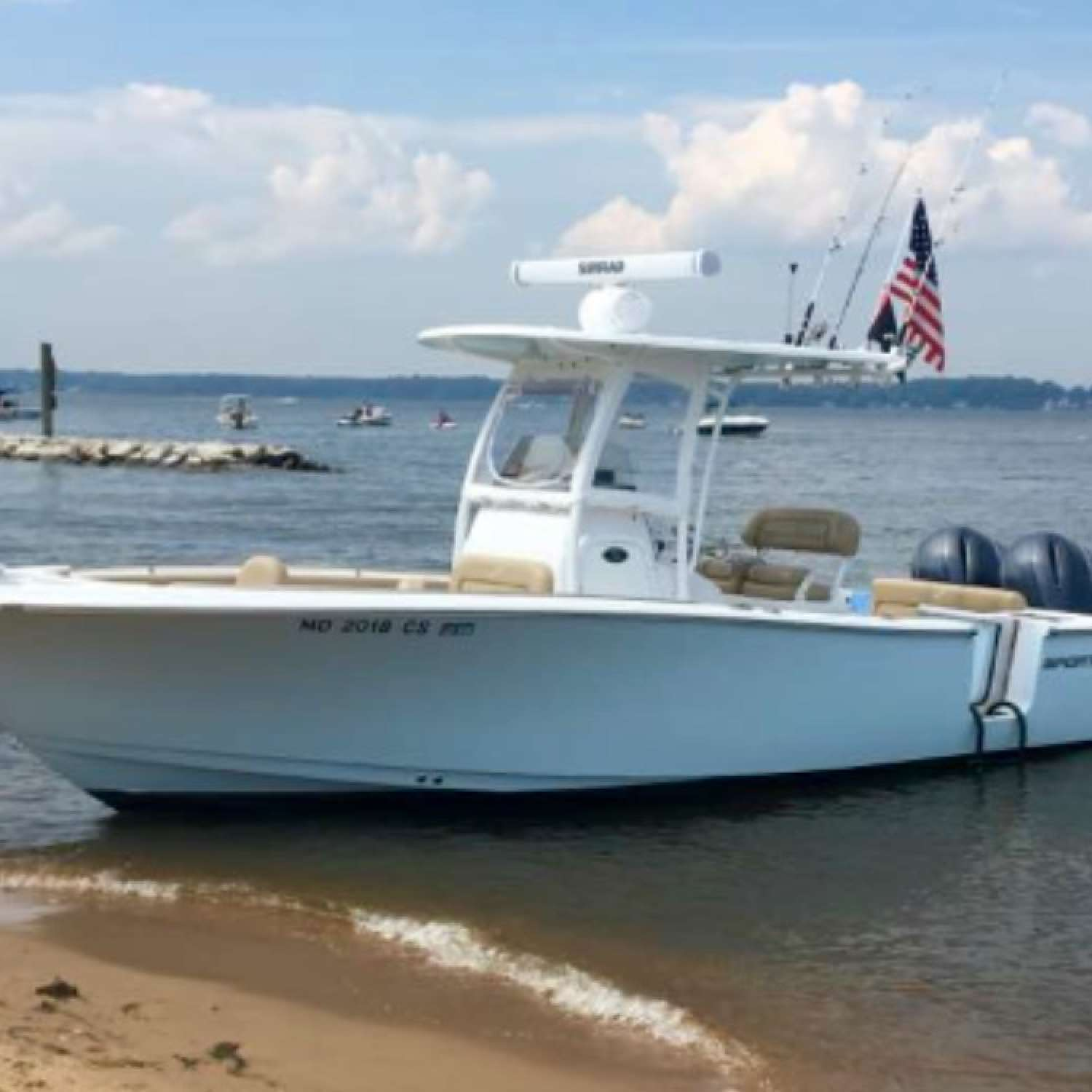 Title: Some Beach - On board their Sportsman Heritage 251 Center Console - Location: Baltimore, Maryland. Participating in the Photo Contest #SportsmanSeptember2016