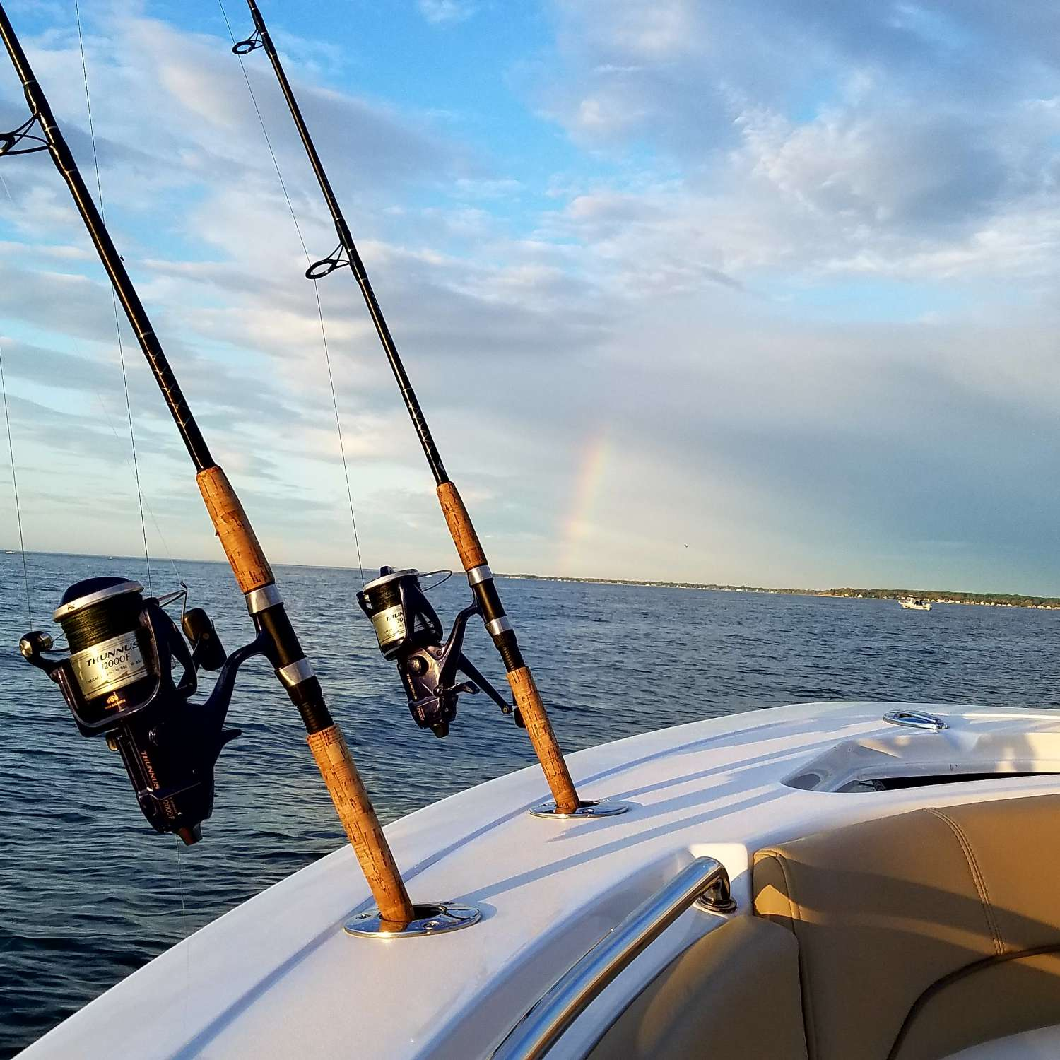Title: Sportsman Rainbow - On board their Sportsman Open 252 Center Console - Location: Grasonville, Maryland. Participating in the Photo Contest #SportsmanApril2017