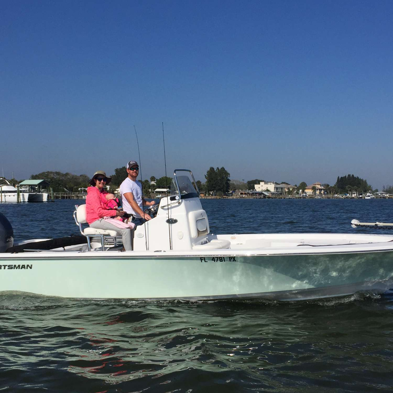 Title: Baby's First Boat Ride! - On board their Sportsman Masters 227 Bay Boat - Location: Saint Cloud, Florida. Participating in the Photo Contest #SportsmanApril2017
