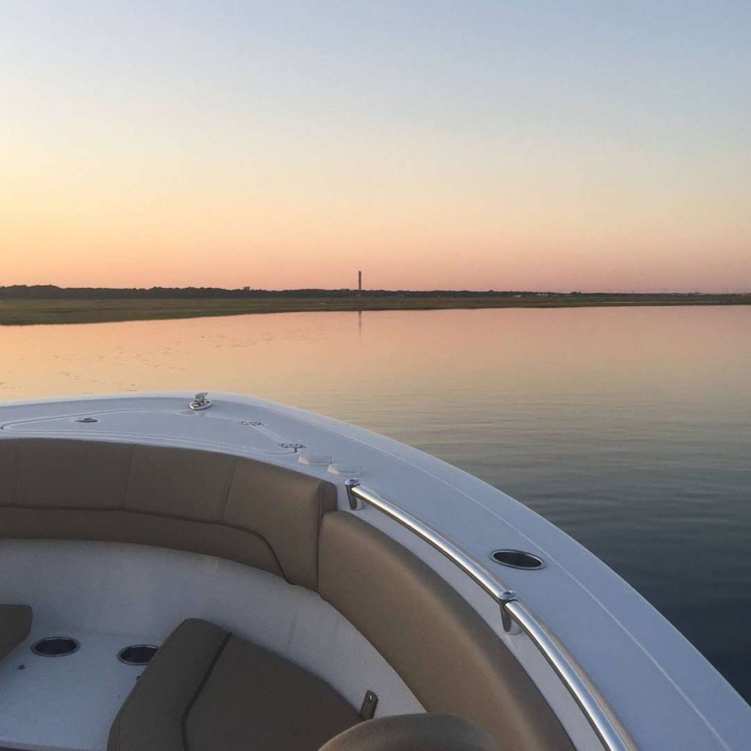 Title: Sunset Sportsman Ride - On board their Sportsman Open 252 Center Console - Location: Warrington, Pennsylvania. Participating in the Photo Contest #SportsmanAugust2017