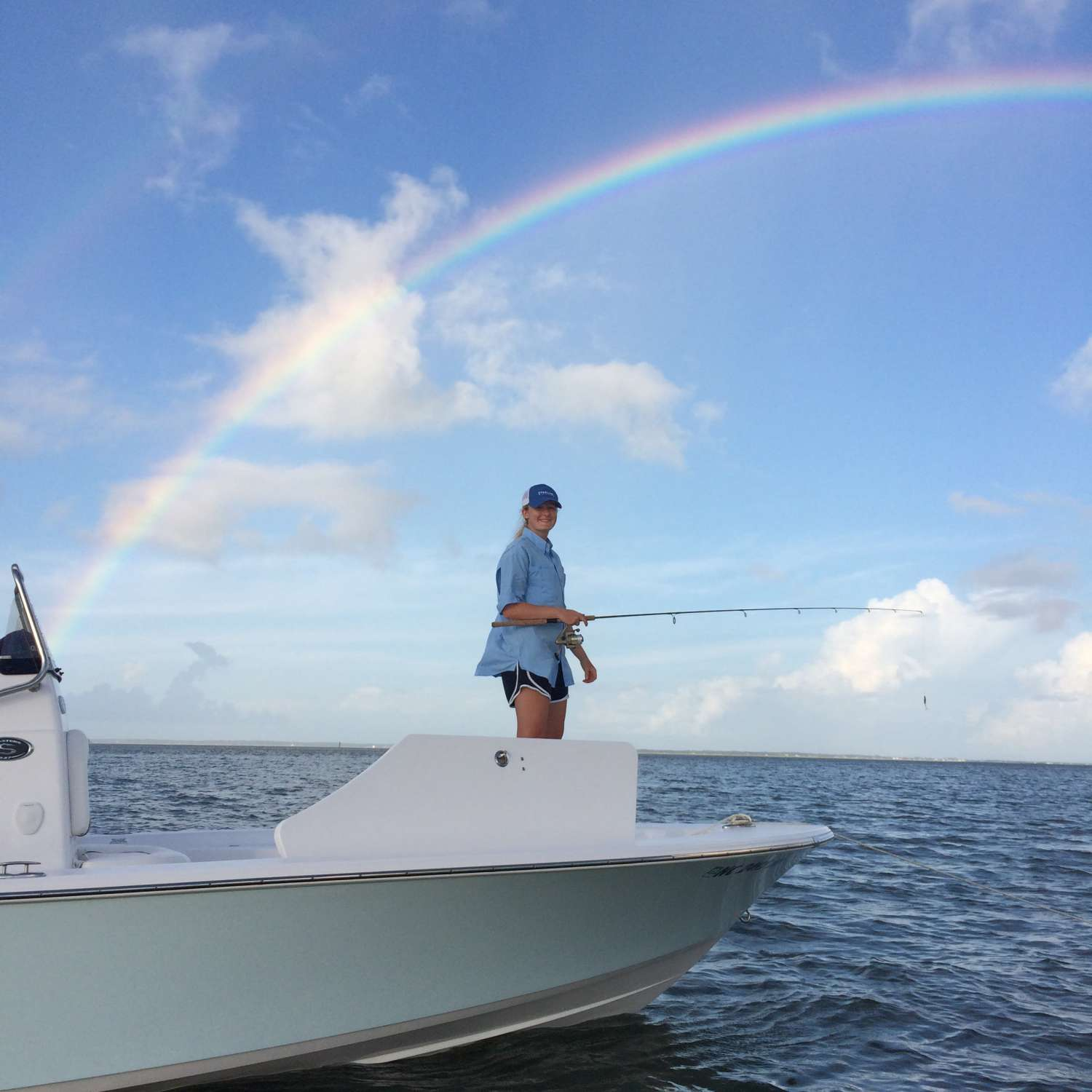 Title: Fishing For Rainbows - On board their Sportsman Masters 227 Bay Boat - Location: Raleigh, North Carolina. Participating in the Photo Contest #SportsmanAugust2017