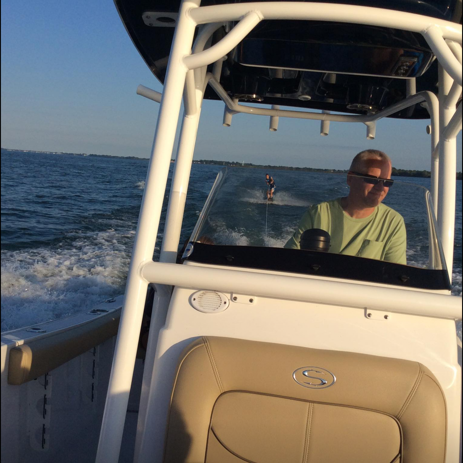 "Title: Putting The ""sport"" In Sportsman - On board their Sportsman Heritage 231 Center Console - Location: Perrysburg, Ohio. Participating in the Photo Contest #SportsmanAugust2017"