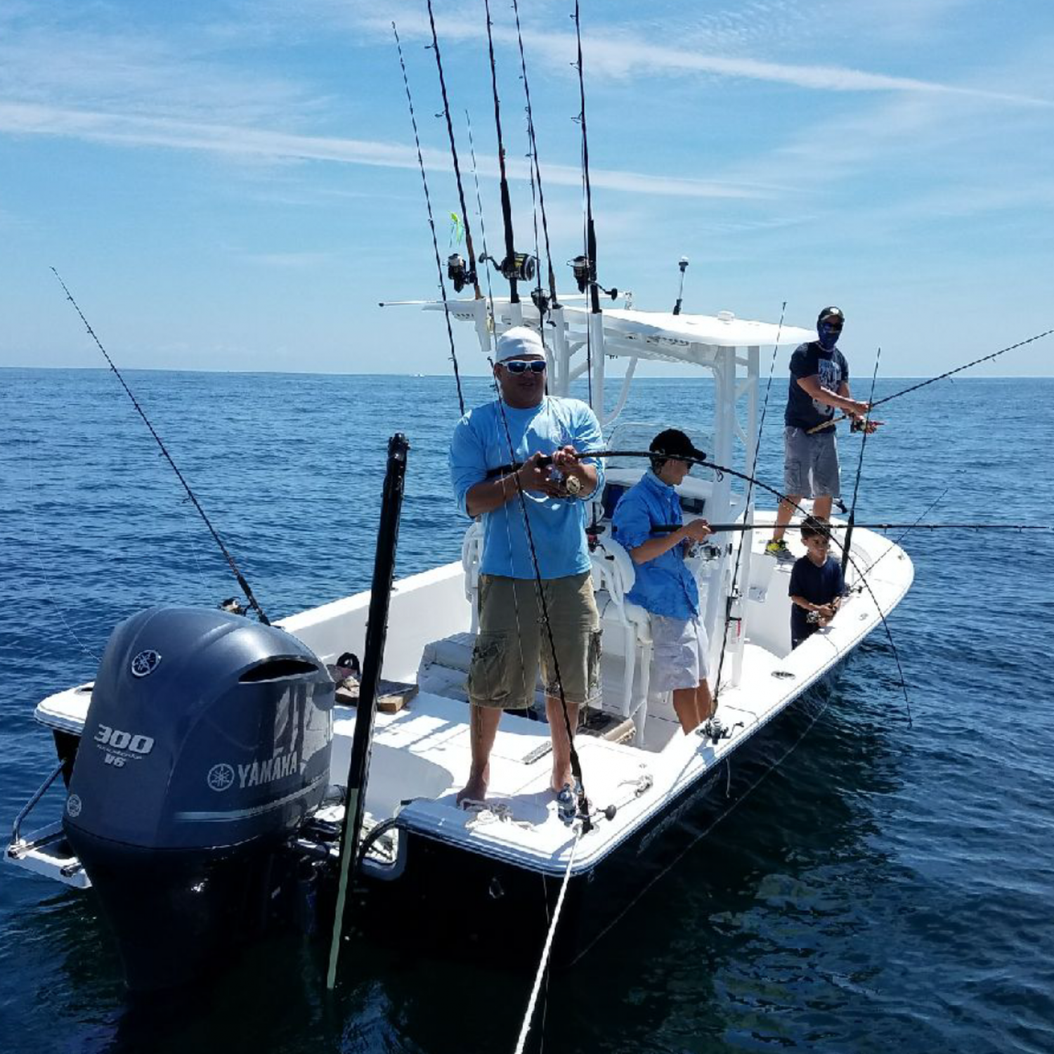 Title: Armed And Ready - On board their Sportsman Masters 247 Bay Boat - Location: Jacksonville, Florida. Participating in the Photo Contest #SportsmanAugust2017