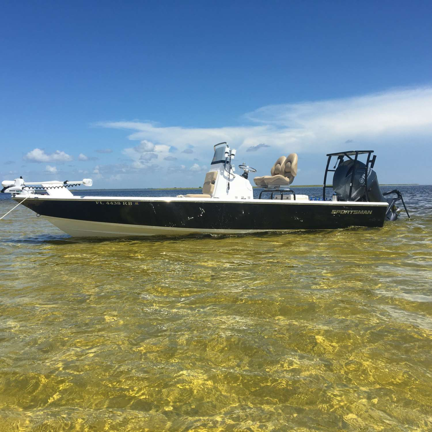 Title: Russell's 214 - On board their Sportsman Tournament 214 SBX Bay Boat (Pre-2020) - Location: Jacksonville, Florida. Participating in the Photo Contest #SportsmanAugust2017