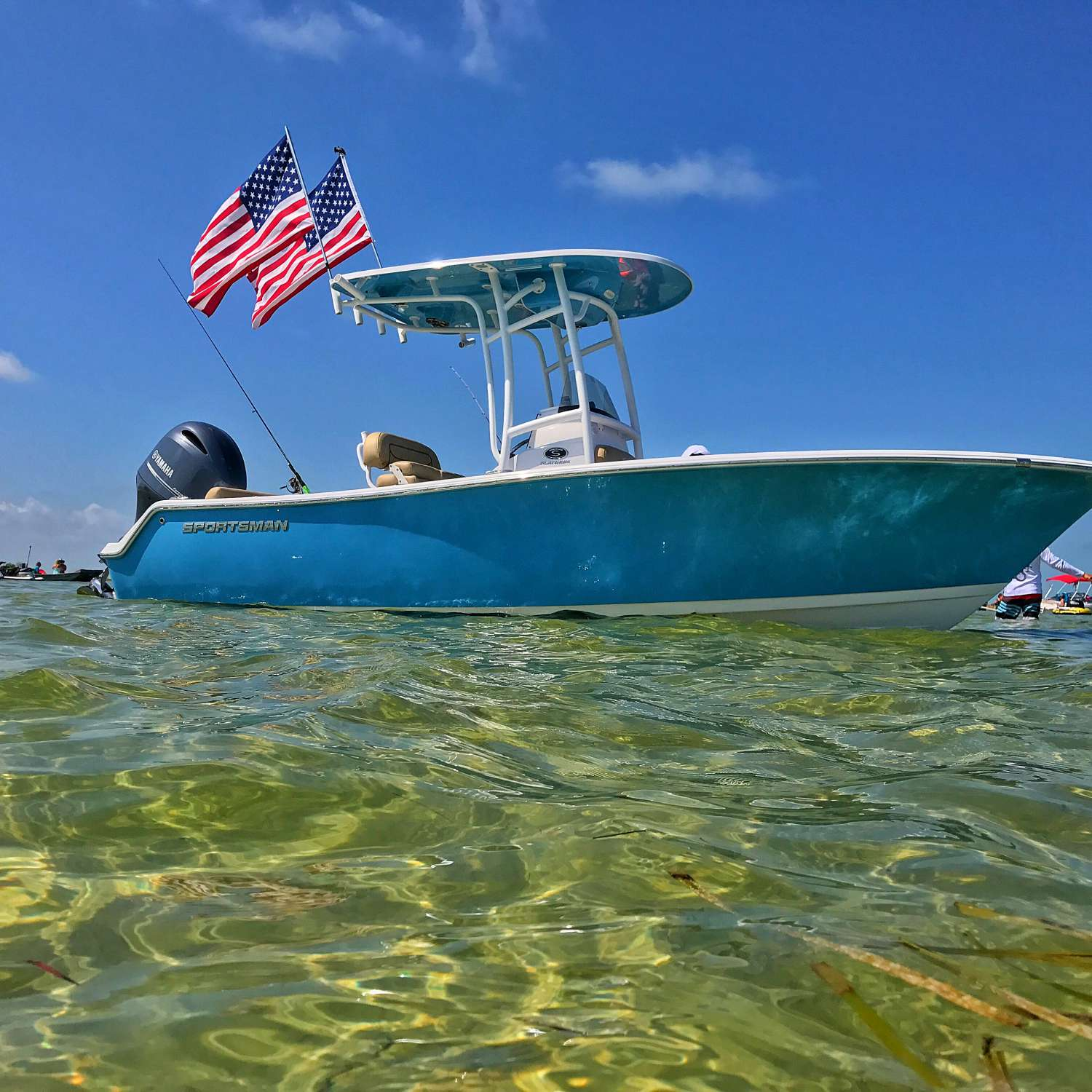 Title: The American Dream - On board their Sportsman Heritage 211 Center Console - Location: Spring Hill, Florida. Participating in the Photo Contest #SportsmanAugust2017