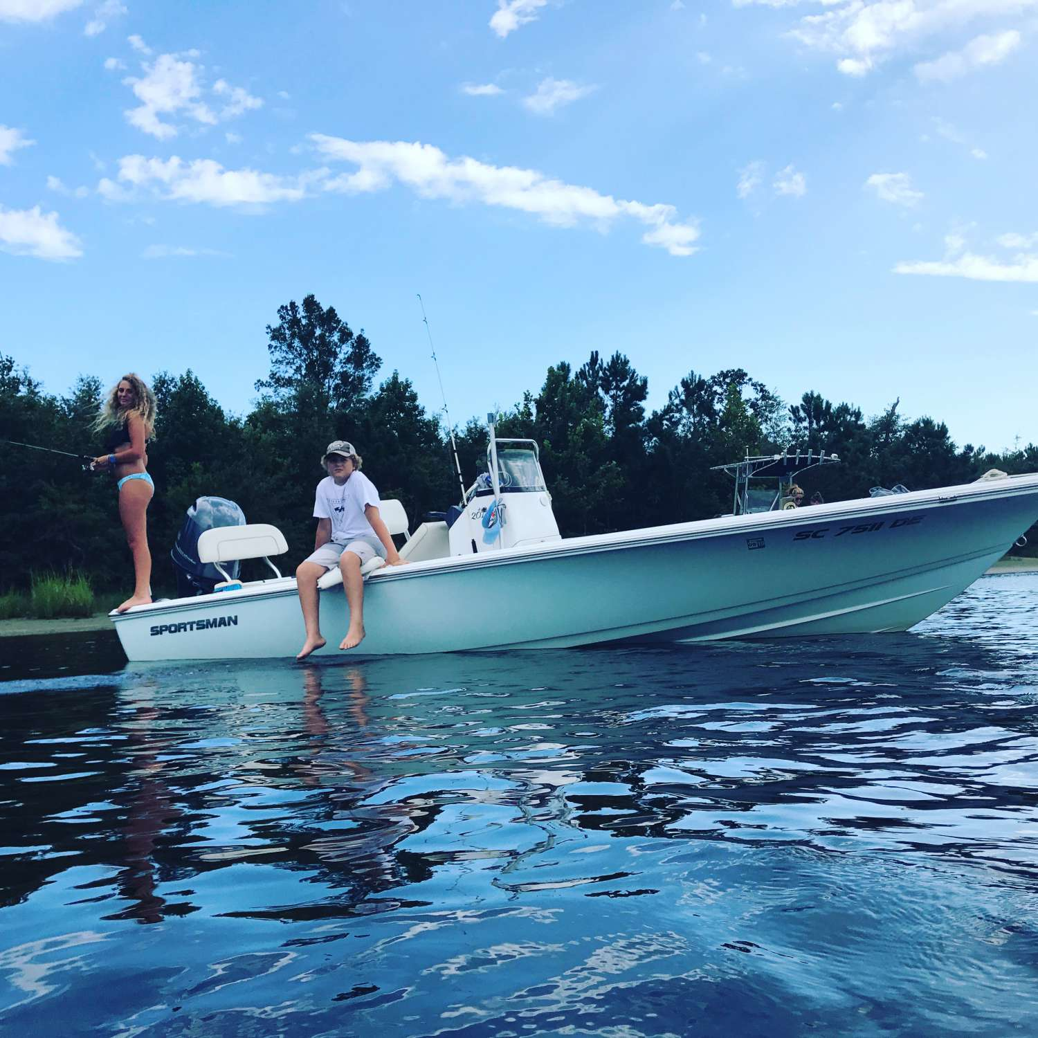 Title: Last Days Of The Summer - On board their Sportsman Island Bay 20 Bay Boat - Location: Surfside Beach, South Carolina. Participating in the Photo Contest #SportsmanAugust2017