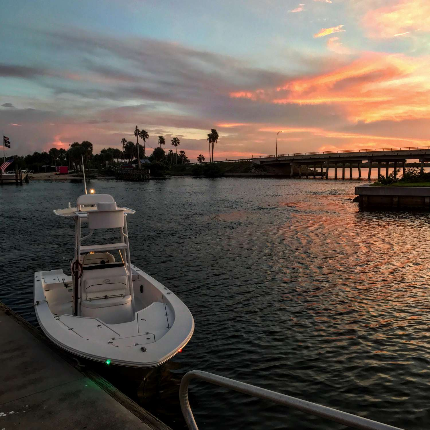 Title: Mini Season Sunsets - On board their Sportsman Masters 227 Bay Boat - Location: Ft Pierce, Florida. Participating in the Photo Contest #SportsmanAugust2017