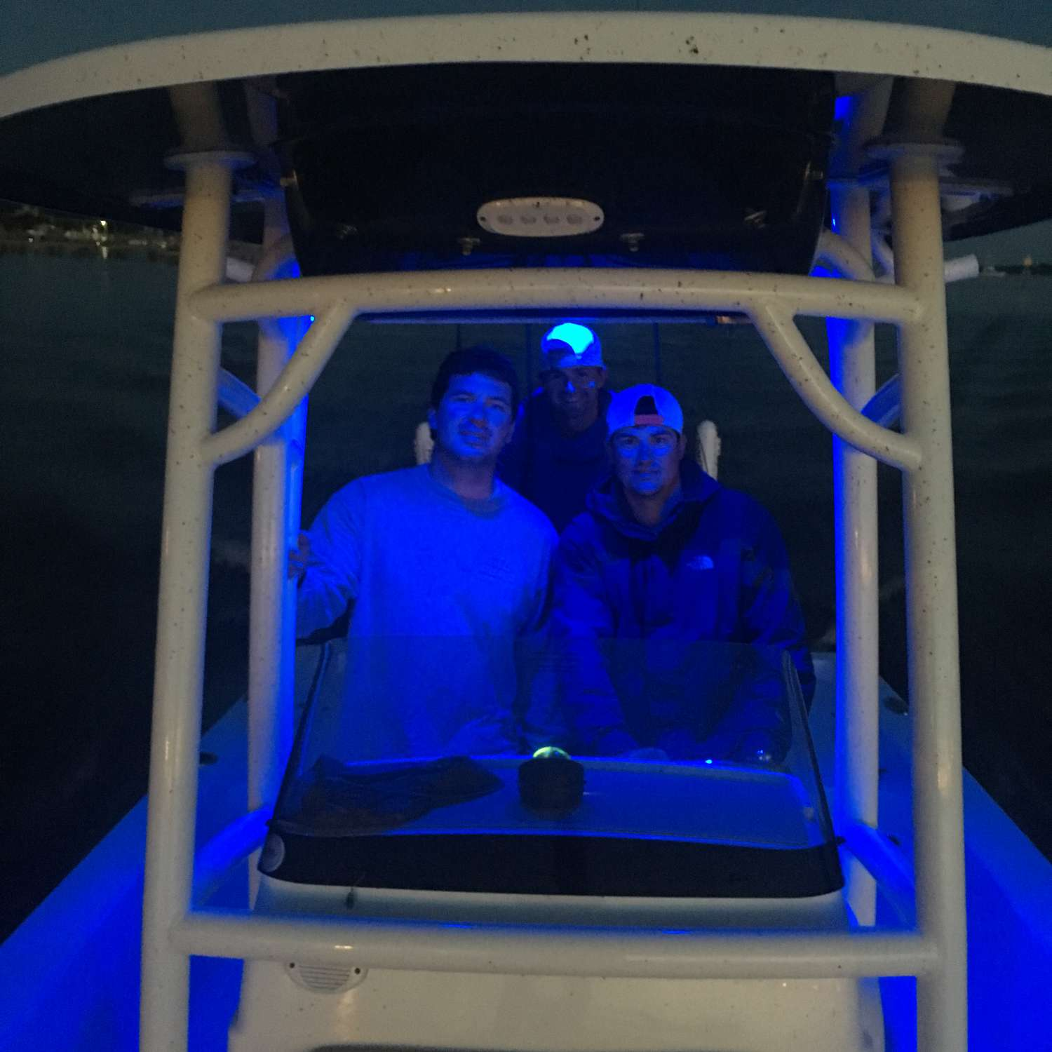 Title: Night Lights Please! - On board their Sportsman Masters 227 Bay Boat - Location: Auburn, Alabama. Participating in the Photo Contest #SportsmanAugust2017