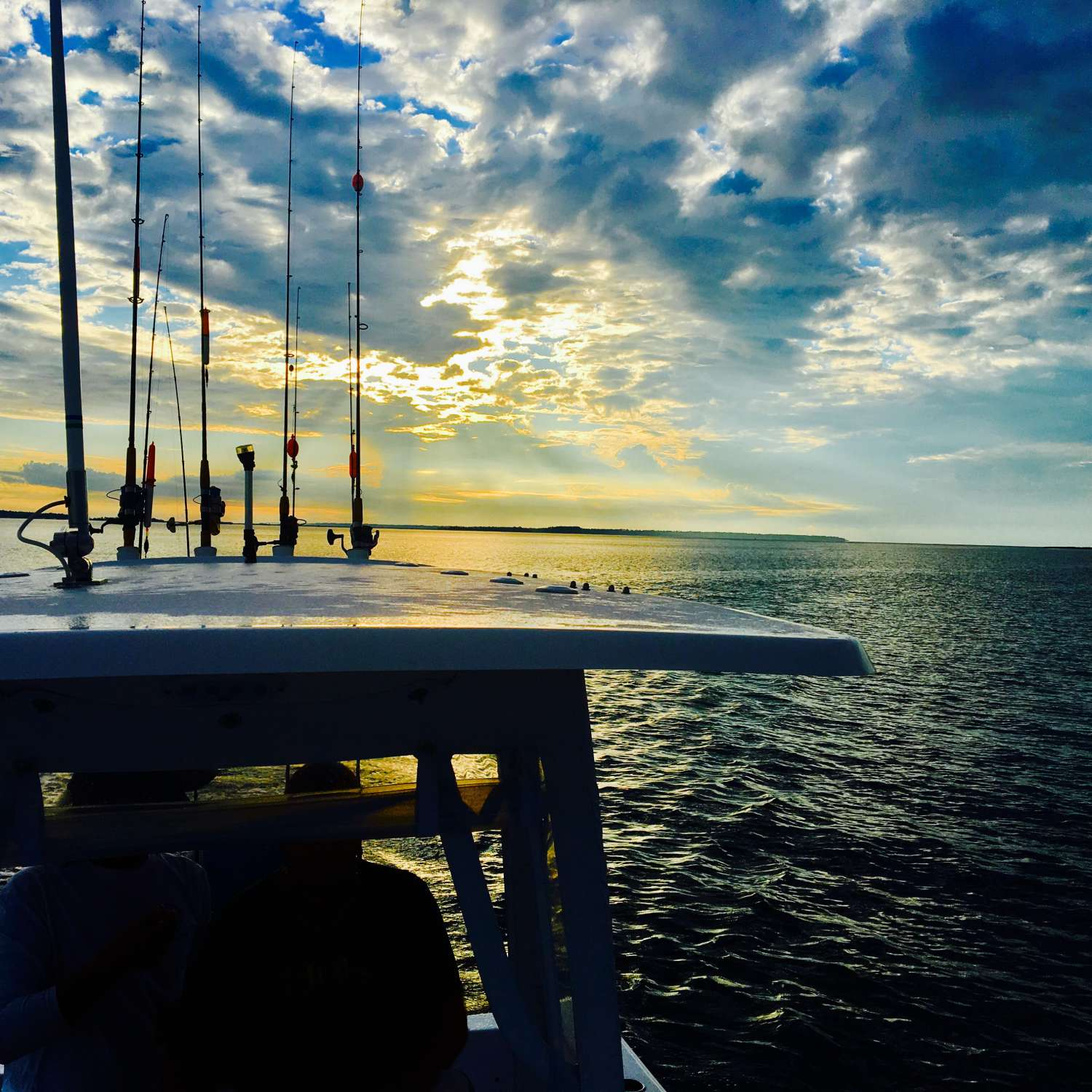 Title: Early Morning Bite In Savannah - On board their Sportsman Heritage 211 Center Console - Location: Savannah, Georgia. Participating in the Photo Contest #SportsmanAugust2017