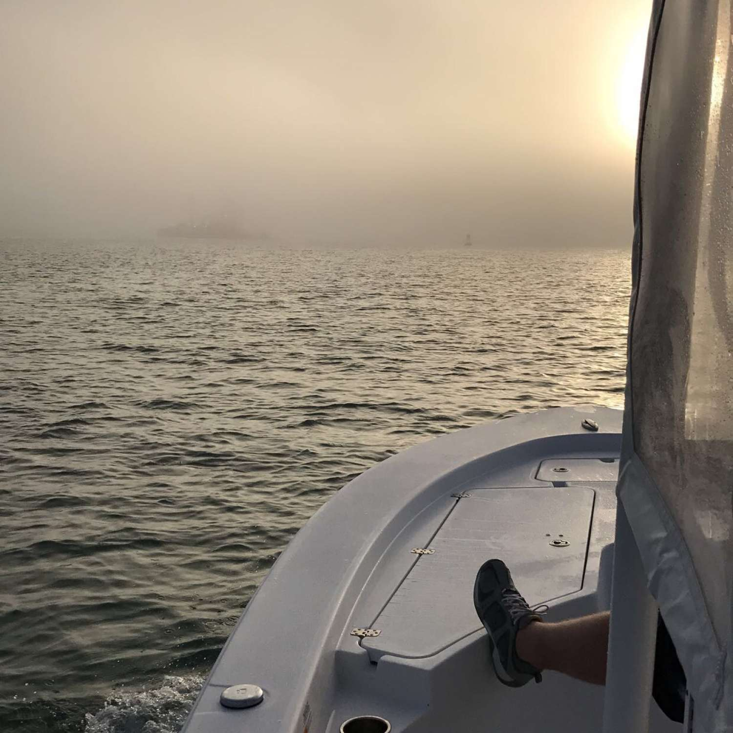 Title: Foggy Morning - On board their Sportsman Masters 247 Bay Boat - Location: Geneva, Florida. Participating in the Photo Contest #SportsmanAugust2017