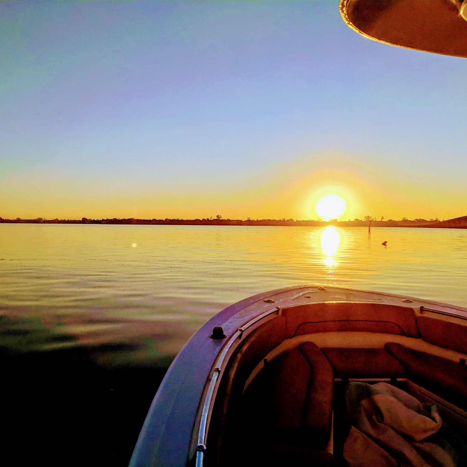 Title: Sunrise morning - On board their Sportsman Open 282 Center Console - Location: Cape Coral, Florida. Participating in the Photo Contest #SportsmanDecember2017