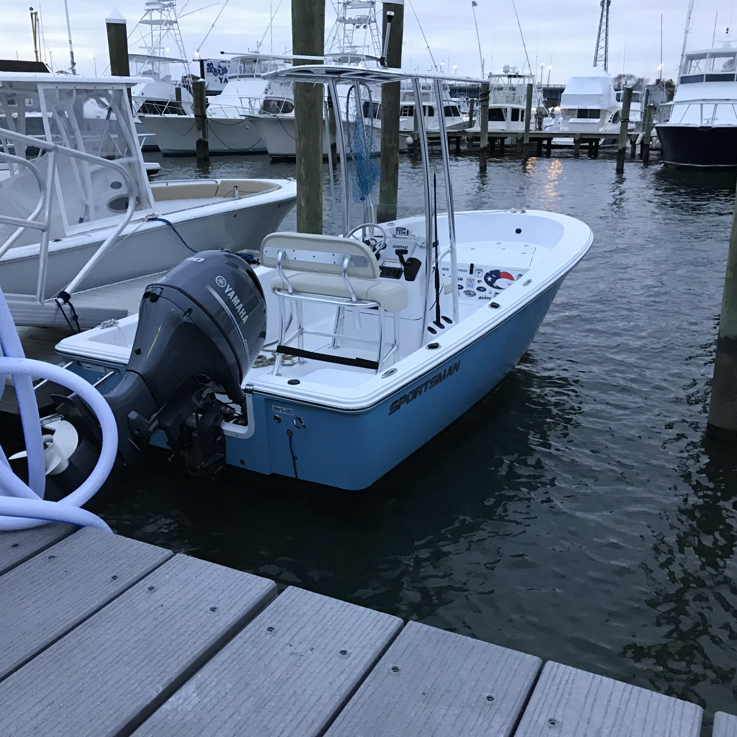 Title: Island reef 19 - On board their Sportsman Island Reef 19 Center Console - Location: Hoffmans marina. Participating in the Photo Contest #SportsmanDecember2017
