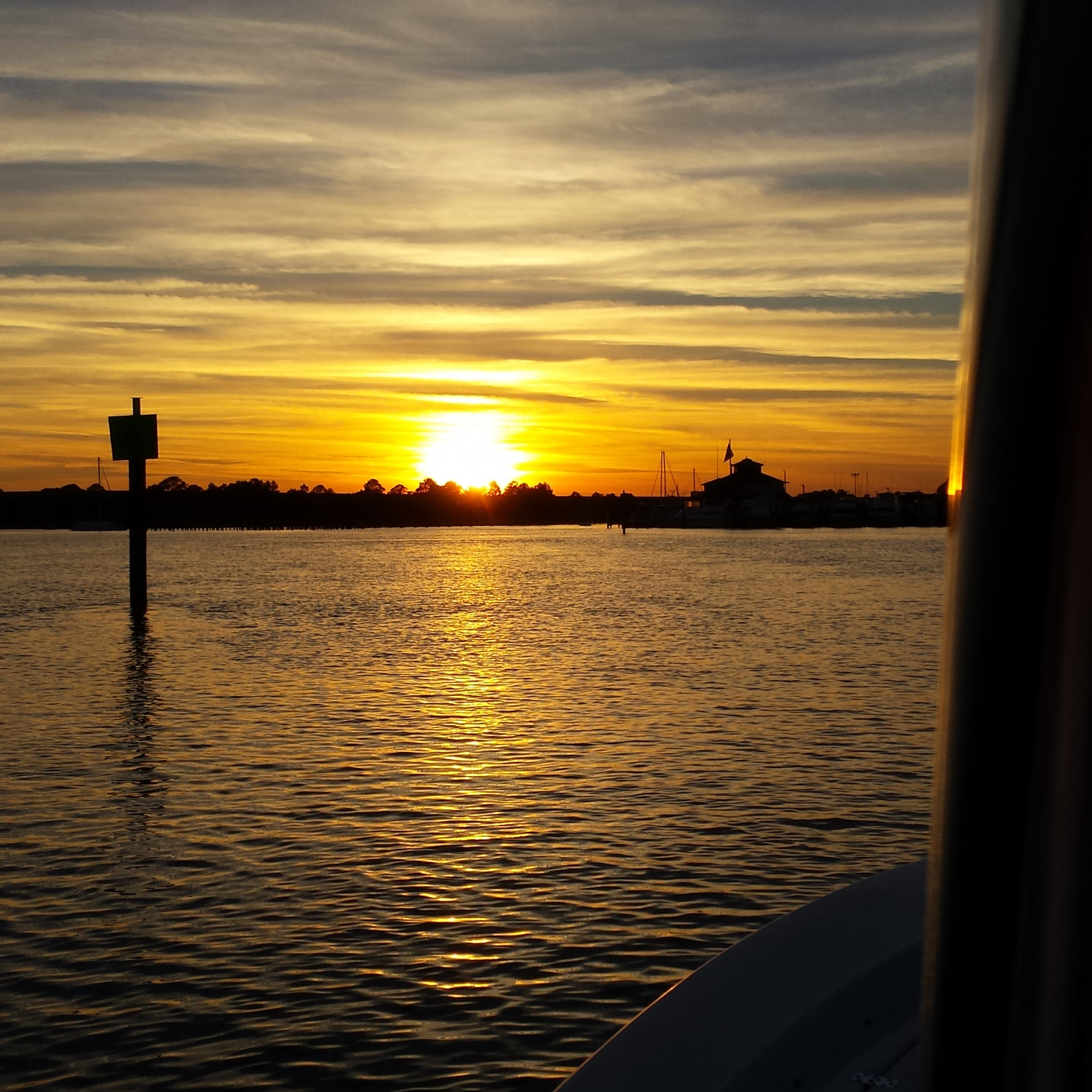 Title: Sunset - On board their Sportsman Masters 247 Bay Boat - Location: Carrabelle Fl. Participating in the Photo Contest #SportsmanDecember2017