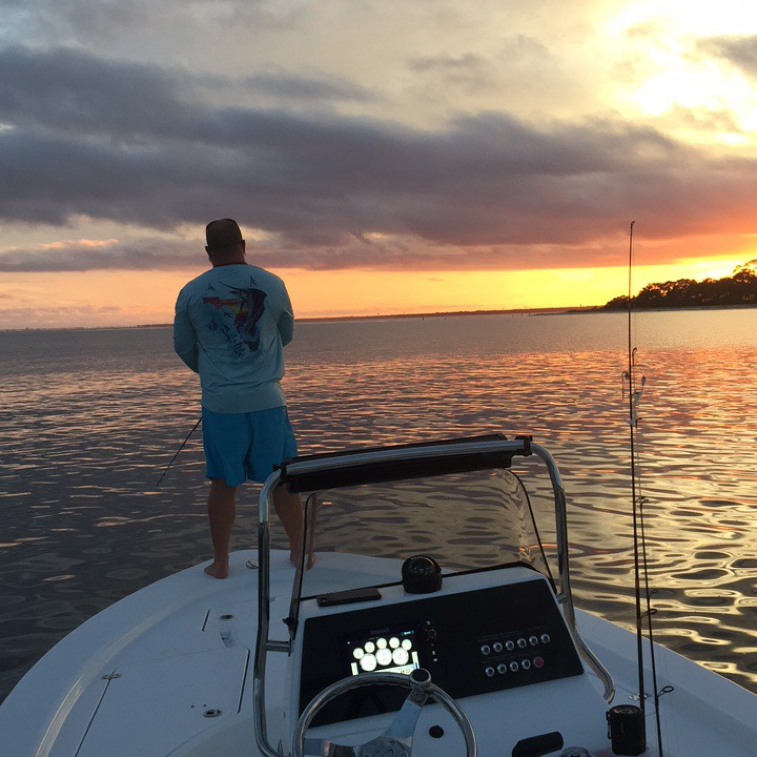 Title: Fishing In the Bay - On board their Sportsman Masters 207 Bay Boat - Location: Niceville,FL. Participating in the Photo Contest #SportsmanDecember2017